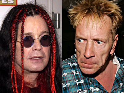 Ozzy Osbourne and John Lydon