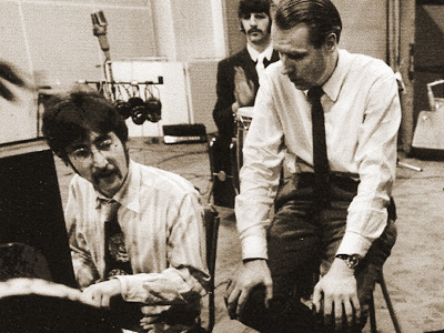 John Lennon and George Martin