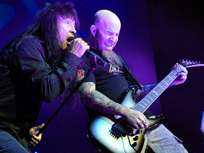 Joey Belladonna and Scott Ian