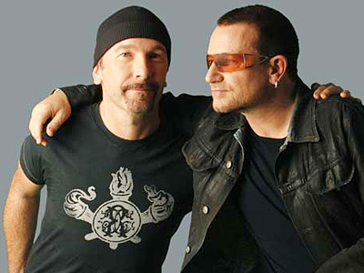 Edge and Bono of U2