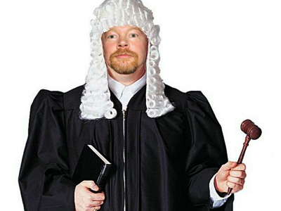 Axl Rose as a court judge