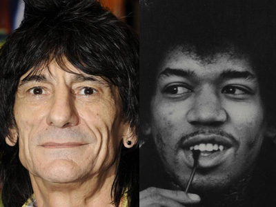 Ronnie Wood and Jimi Hendrix